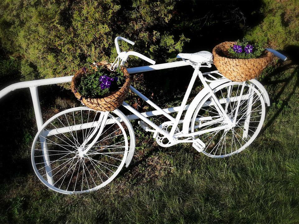 Virágos kerékpár